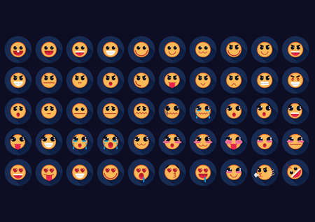 neutral face: set of emoticons
