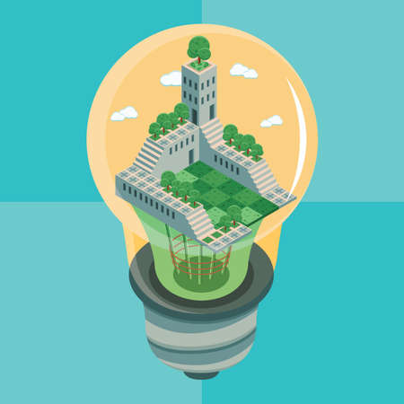 invent: building in electric lightbulb