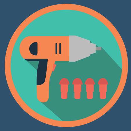 tornillos: perforar con tornillos Vectores