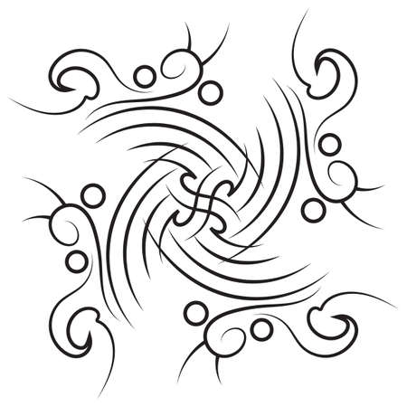 tattoo design: symmetrical tattoo design Illustration