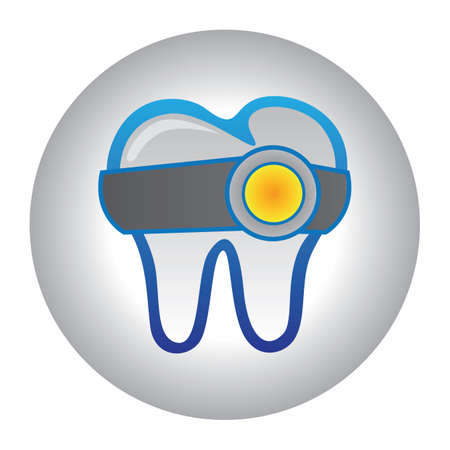 tooth with head torch