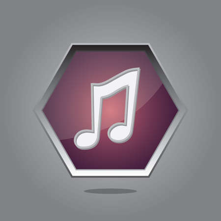 the music: music button Illustration