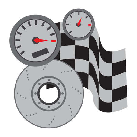 brake disc: vehicle meter with disk brake and race flags