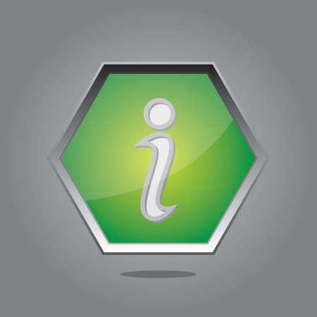 information button: information button Illustration
