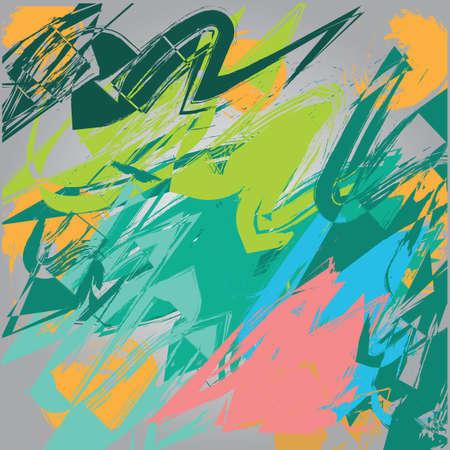 strokes: colorful brush strokes Illustration