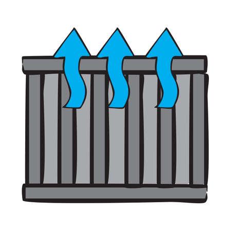 coolant: car radiator Illustration
