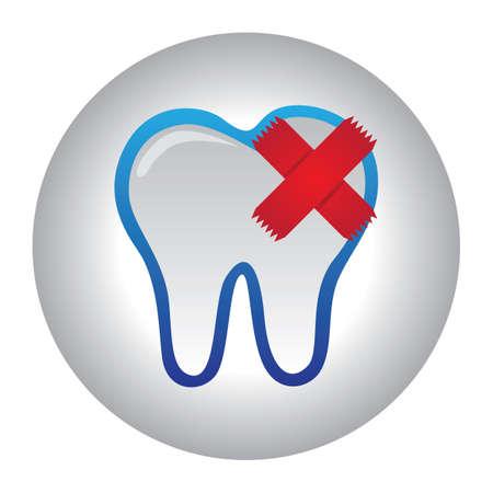 injured tooth