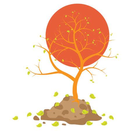 almost bare tree Illustration