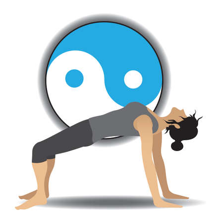 position: woman in yoga position
