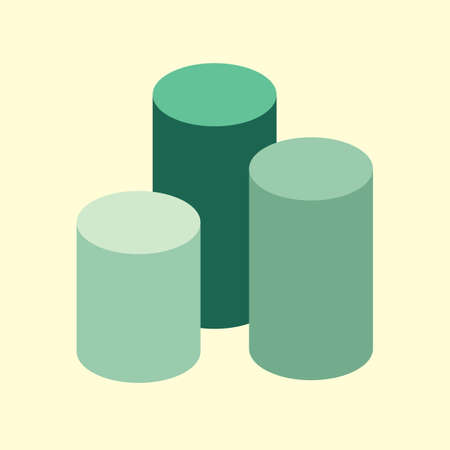 cylindrical: cylindrical geometric infographic