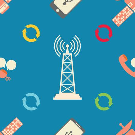 signal: tower signal Illustration