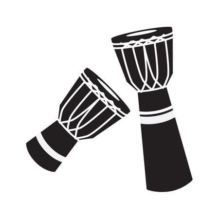 djembe: silhouette of djembe