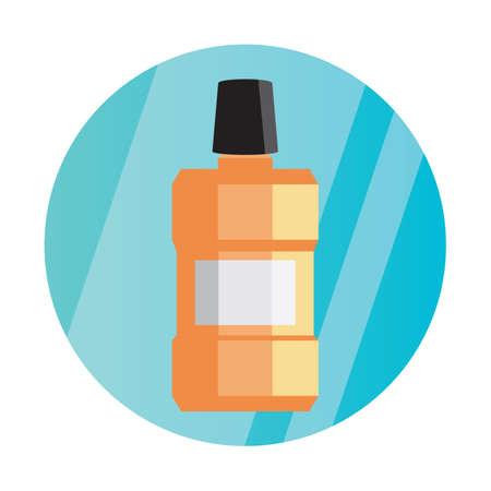 oral care: mouthwash bottle