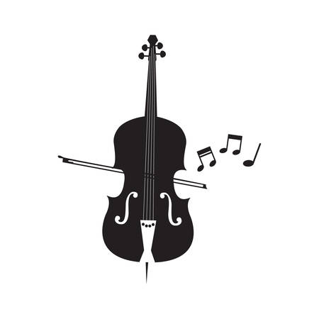 cellos: silhouette of cello