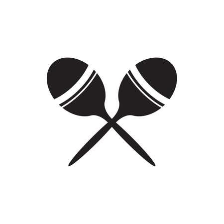 maracas: silhouette of maracas