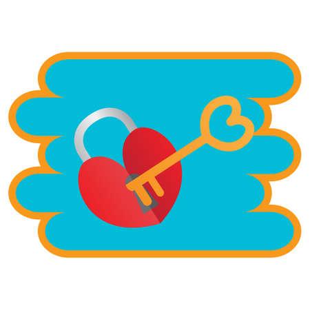lock and key: love lock and key