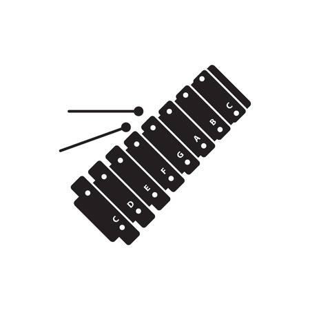 xilofono: silueta de xil�fono