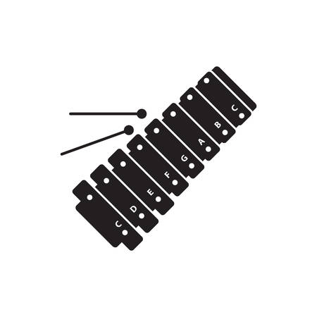 xilofono: silueta de xilófono
