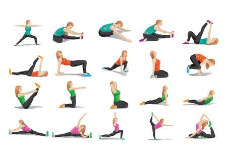 collection of woman doing yoga