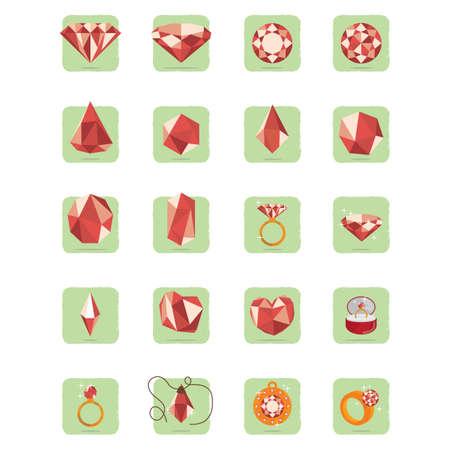 carats: set of diamond icons