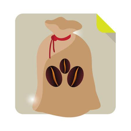 coffee sack: a sack of coffee beans