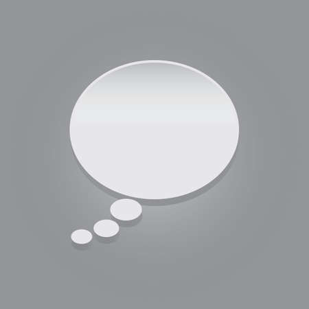 contemplate: oval thought bubble Illustration