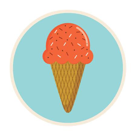 cône de crème glacée