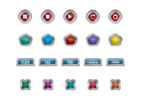 disagree: set of button icons