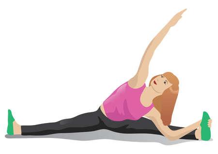 mujer que hace yoga