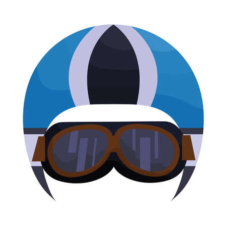 Motorrad-Helm mit Schutzbrille
