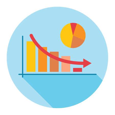 decrease: decrease shown in bar graph and chart