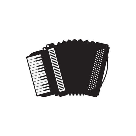 accordion: silhouette of accordion Illustration