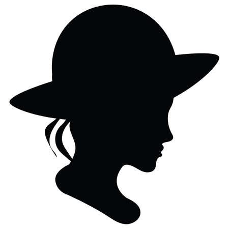 silhouette of a woman wearing a hat