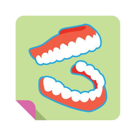 dentures: a set of dentures Illustration