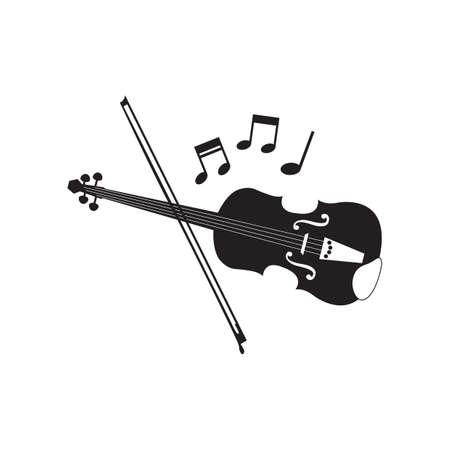 Silhouette der Violine