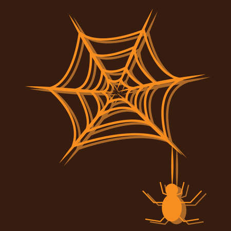 spiderweb: spider with spiderweb Illustration