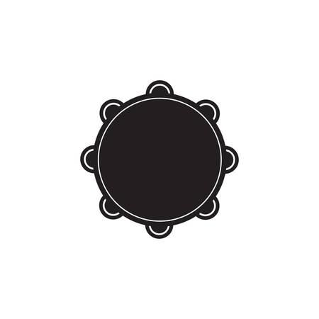 pandero: silueta de pandereta