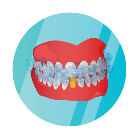 foam: foam on teeth Illustration