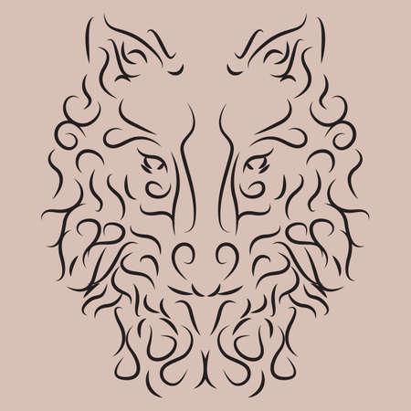 animal: animal tattoo Illustration