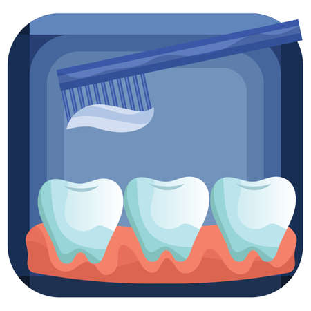 tooth brush: teeth and tooth brush Illustration