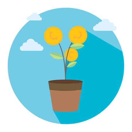 money plant: money plant Illustration