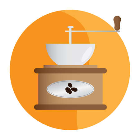 molinillo: molinillo de café Vectores
