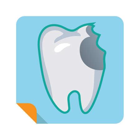 damaged tooth Illustration