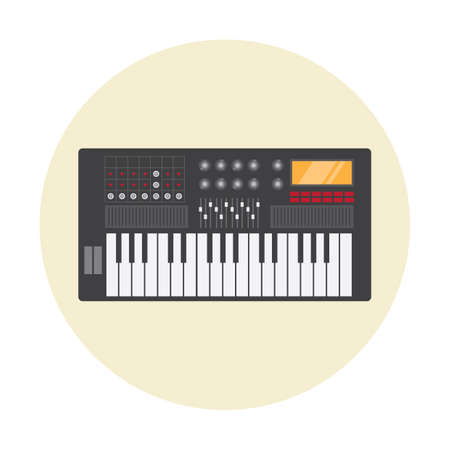 the electronic: electronic piano Illustration