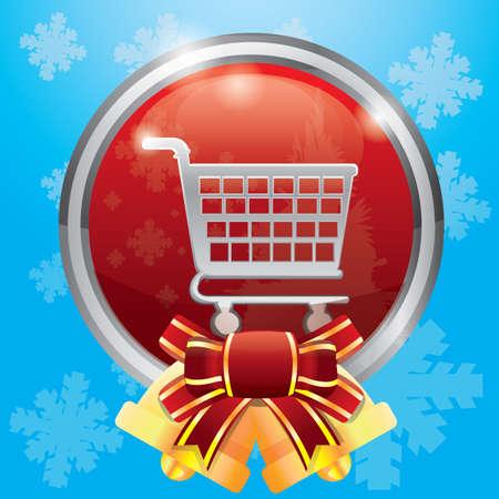 x   mas: shopping cart button Illustration