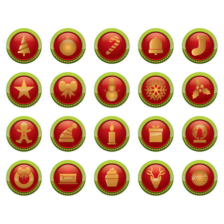shortbread: set of button icons