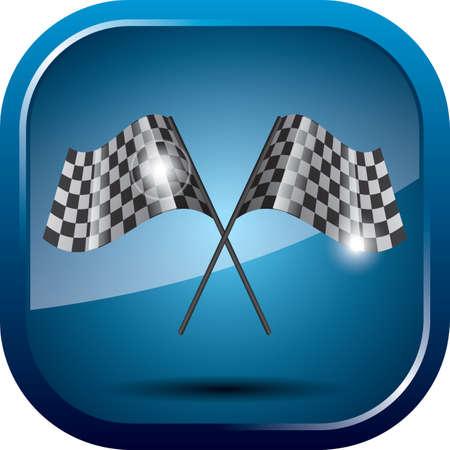 racing: racing flags Illustration