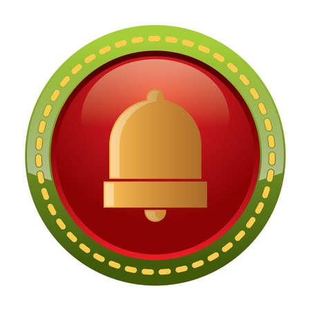 christmas bell: christmas bell button