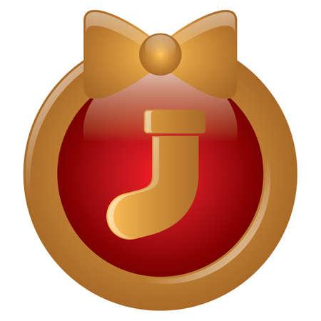 christmas stocking: christmas stocking button