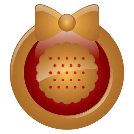 shortbread: shortbread cookie button Illustration